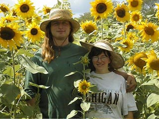 Phil and Ilene in the sunflowers